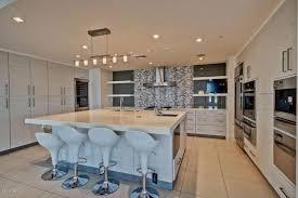 modern kitchen with wine refrigerator undermount sink in tempe
