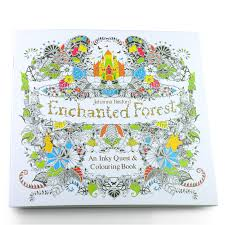 24 Pages Enchanted Forest English Edition Coloring Books For Adult Children Girls Antistress Art Drawing Painting Secret Garden
