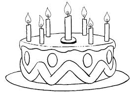 New Birthday Cake Coloring Page Printable Image A Pages Learn Me