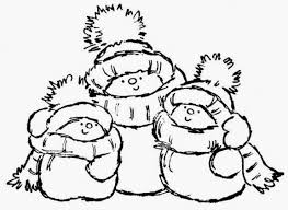 Cute Snowmen Free Printable Coloring Pages