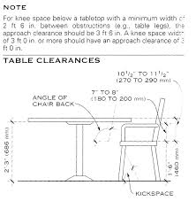 Standard Dining Table Dimensions Room Size Alluring Decor Inspiration