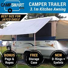 3.1m Kitchen Awning Sunscreen Privacy Screen - Jayco Eagle, Hawk ... Coast Pop Top Privacy Screen Sun Shade End Wall Side For Caravan 59 X 98 Sunshade Retractable Awning Outdoor Patio Best Air Porch Awnings Rv Rooms Add A Room Enclosure Shop Shadepronet 49m 18m Sunscreen Roll Screens Rollout In Ma Stationary Fabric Pack 2 Tensioner Ptop Deflapper Kitchen Swan