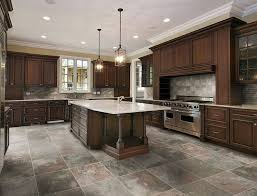 Kitchen Flooring Ideas With Dark Cabinets And Tile Floor Ceramic Tiles
