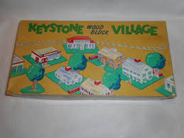 100 Brick Walls In Homes KEYSTONE VILLLAGE WOOK BLOCK SET 706 HOMES TREES BRICK