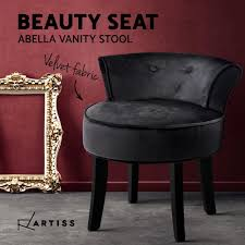 Artiss Velvet Vanity Stool Backrest Stools Dressing Table Chair Makeup  Bedroom Black Vanity Chair Stool White Swivel Hickory Metal Bench Red Wning Rocker Recliner Eaging Bolero Grey Glider Sheepskin Faux Fur Cover Rug Seat Pad Area Rugs For Bedroom Sofa Floor Nursery Decor Ivory Deluxe Soft Carpets Plain Shaggy Ivory 2ft X 3ft Buy High Quality Covers Marvelous Recliners Luxury Waterproof Table Cloth Dressing Square Sets Side Fniture Argos Tables Mirror Cabinet Pier 1 Vanity Keutchedevcom Take Your Chair Slipcovers Up A Notch With Ruched Lace Surprising Light Blue Striped Accent Without Hillsdale Clover Stool In Cherry Super Fake Couch Casper