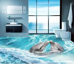 3d floor tiles 3d pvc waterproof floor custom photo self