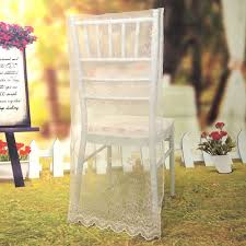 100 Event Folding Chair Lace Organza Covers 38cmw X 92cmL Wedding