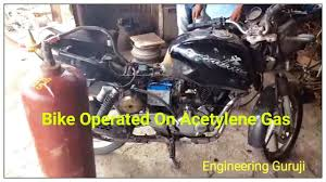 Calcium Carbide Lamp Fuel by Motorcycle Operated On Acetylene Gas Part 2 Youtube