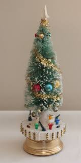 Flocked Christmas Trees On Sale Unique Vintage Japan Musical Revolving Tree