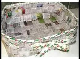 Craft Work With Paper Basketpaper Basket