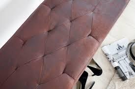 elegante sitzbank cambridge 90cm cigar braun chesterfield look riess ambiente de