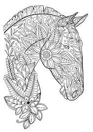 Horse PDF Coloring Page Zentagle For Adults Adult Book Printable Home Decor Print Kids Activity Fun