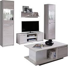 mirjan24 wohnzimmer set reton i couchtisch wandregal tv