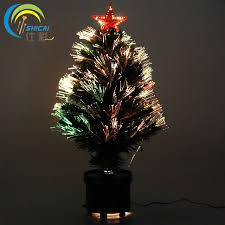 Free Shipping Fiber Optic Christmas Tree 60CM LED Star Colorful Changing