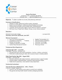 Pharmacy Technician Resume Example Inspirational Of And Assistant For Examples