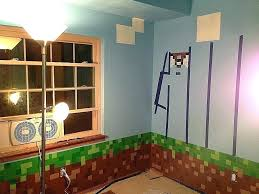 Minecraft Room Decorations Wall Ideas Art Stickers Fresh Lovely Boy Kids Extraordinary