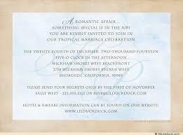 Photo Beach Wedding Invitation Back