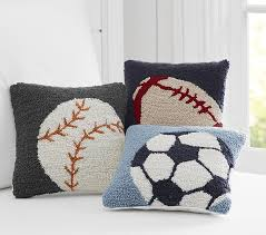 Pottery Barn Decorative Pillow Inserts by Sports Hook And Loop Decorative Pillows Pottery Barn Kids