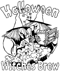 Halloween Witches Brew Coloring Page