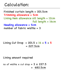 Material For Curtains Calculator by Pencil Pleat Curtain How To Calculate Lining Quantities