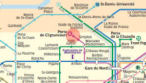 metro denis porte de porte de clignancourt station map metro