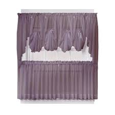 No Drill Window Curtain Rod by Curtains Walmart Sheer Voile Double Ascot Valance Window Treatment