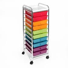 Desk Drawer Organizer Amazon by Amazon Com Seville Classics 10 Drawer Organizer Cart Pearlescent