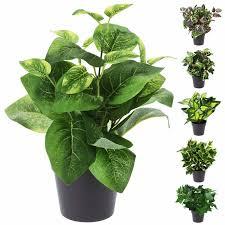 3 x kunstpflanze im topf badezimmer tisch deko künstliche