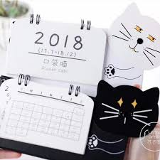 agenda sur bureau 2018 poche mini table calendriers planificateur de bureau
