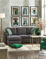 Sectional Living Room Ideas by Black Charcoal Green And Gold Andrea Sectional Sofa With Chaise