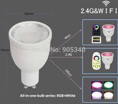 wifi gu10 1 6million color change dimmable 2 4g led spot l 85