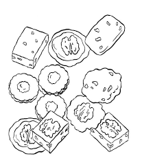 Various Cookie Coloring Page