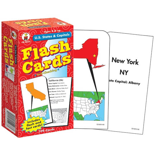 Carson-Dellosa Publishing Flash Cards - US States and Capitals