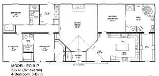 Four Bedroom Mobile Homes Mattress House Plan Double Wide Trailer
