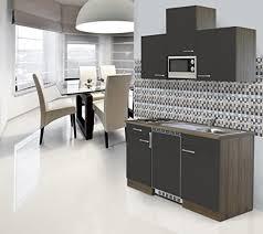 möbel wohnen singleküche 100cm miniküche mit spüle