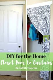 Fabric For Curtains Diy by 10 Minute Diy Closet Doors To Curtain Project The Best Of Life