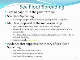 Sea Floor Spreading Subduction Animation by Key Terms Mid Ocean Ridge Sea Floor Spreading Core Samples