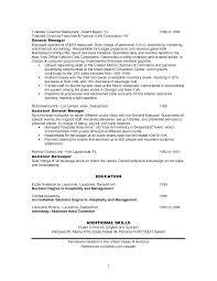 Sample Resume Restaurant Manager For Resumes