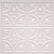 Black Ceiling Tiles 2x4 Amazon by Amazon Com Ceiling Tiles Glue Up 6x6 Pattern Aa204 White Matte
