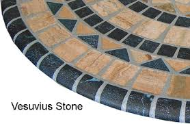 Round Patio Tablecloth With Umbrella Hole by Amazon Com Sperry Mfg Vesuvius Stone Pattern Mosaic Table Cover