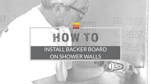 shower wall installation how to install backer board the tile