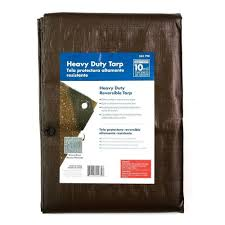 Everbilt 6 ft x 8 ft Silver and Brown Heavy Duty Tarp HLD0608H