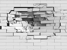 Crumbling brick wall stock illustration Illustration of fall