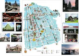 The Map Of Yogyakarta
