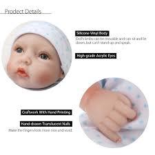 SuuforestNET 11inch Reborn Baby Doll Girl Silicone Handmade