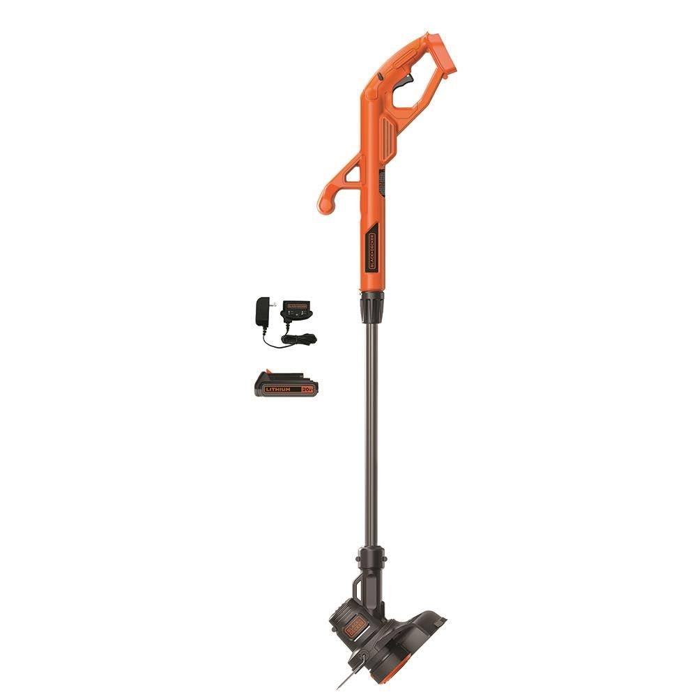 Black+Decker LST201 MAX Lithium Ion String Trimmer/Edger - 20v, 10″