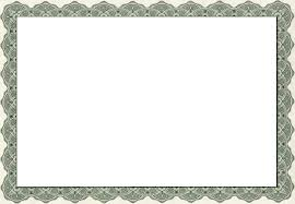 Printer Friendly Certificate Free Page Borders SpyFind