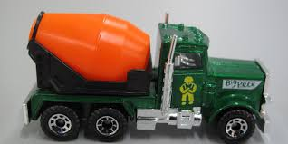 Toy, Matchbox Cement Mixer Truck, Peterbilt, 'Big Pete', 1:80 Scale ...