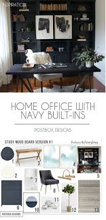 100 Pinterest Home Interiors Trend Alert Office Navy Builtins Real Study Makeover Reveal