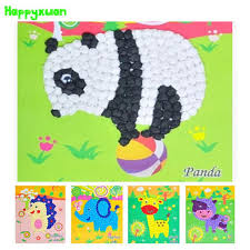 2016 New DIY Tissue Paper Ball Art Craft Animals Panda Horse Elephant Giraffe Handmade Toys For Kids 3 6 Years Old
